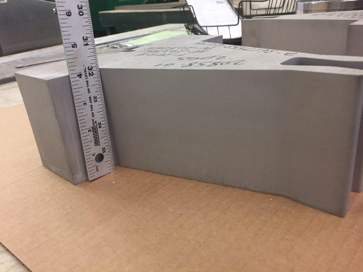 4-inch 304H Waterjet Cut Piece