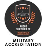 Proud Supplier of the United States of America Military